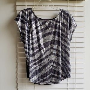 NWOT Almost Famous zebra top